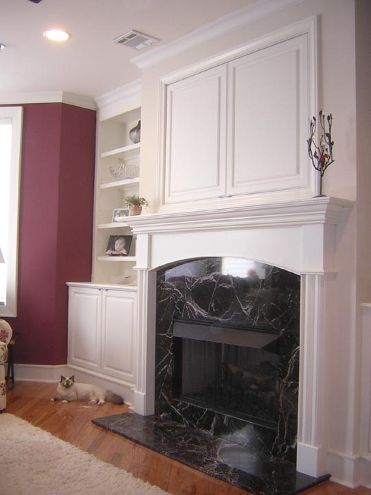 Over The Fireplace Tv Cabinet Home Design Ideas And Pictures